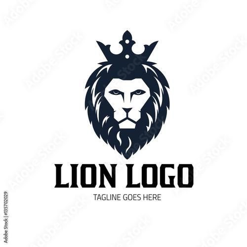 lion logo design template lion king logo lion head logo vector illustration