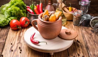 chanakhi, Georgian cuisine