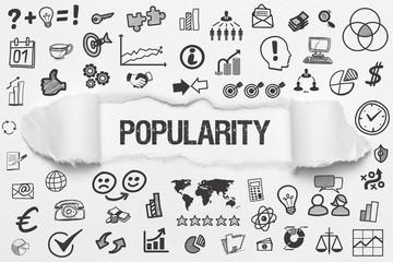 Popularity / weißes Papier mit Symbole