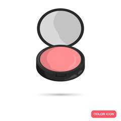 Face pink rouge color icon for web and mobile design