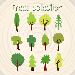 Trees Color Vector Selection