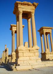 The Great Tetrapylon, Palmyra, Syria