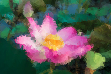 Abstract Polygon Lotus Flower Background EPS10.