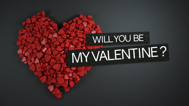 Will You Be My Valentine ? 3D Rendering