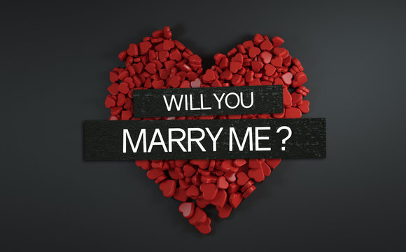 Will You Marry Me ? 3D Rendering