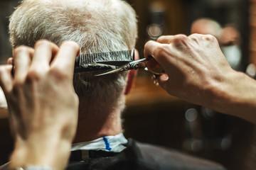 Man haircut at the barbershop
