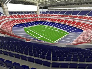 3D render of modern American football super bowl lookalike stadium