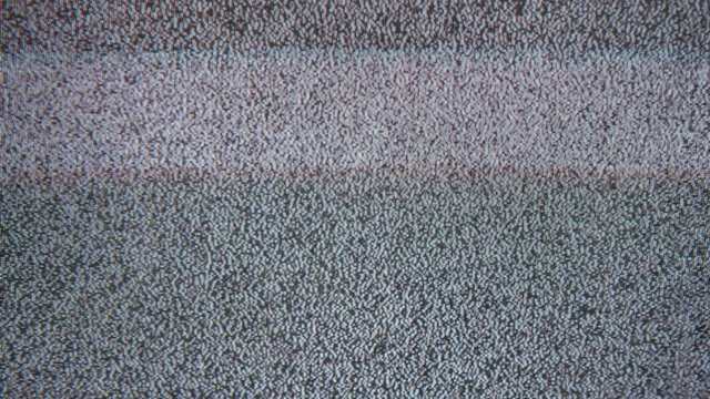 Tv noise interference bad signal screen television