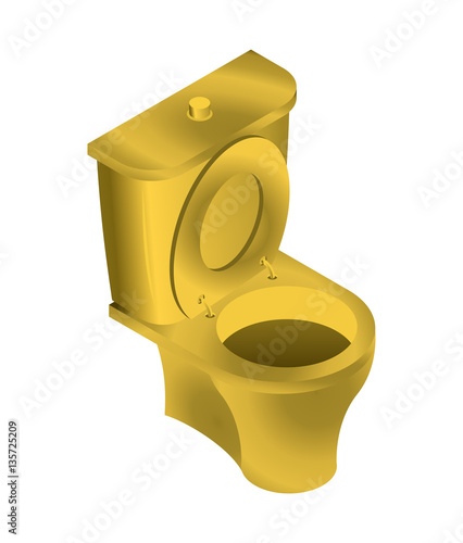 Cool Golden Toilet Isolated Wc For Rich On White Background Inzonedesignstudio Interior Chair Design Inzonedesignstudiocom