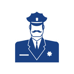 Police icon. Policeman officer sign. Cop symbol
