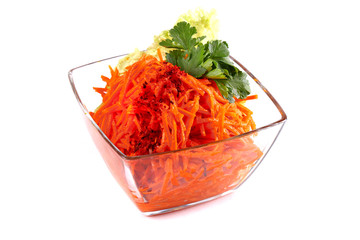 Korean carrots with parsley