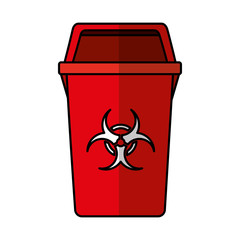 garbage bin isolated icon vector illustration design