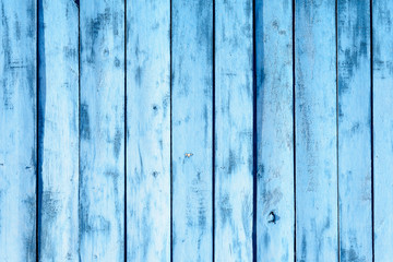 Worn Blue Wooden Planks