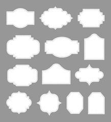 blank vintage labels set, vector