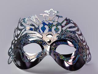 silver mask , symbol  concept.