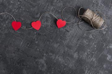 heart on a graphite background, dark background