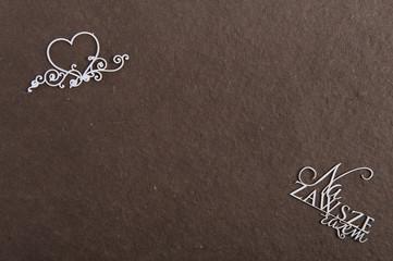 """serce, napis """"na zawsze razem"""""""