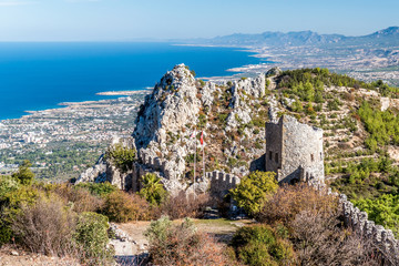 Foto auf Leinwand Zypern Ruins of St Hilarion Castle. Kyrenia District, Cyprus