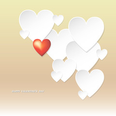 Valentine's Day, greeting card, vector illustration.