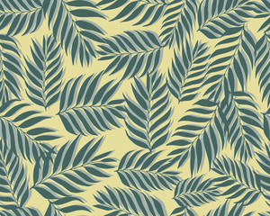 Grunge seamless pattern of colored leaves.