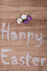 Happy easter written with glittery letters