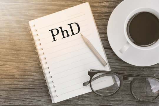 Concept PhD Doctor of  Philosophy Degree Education Graduation me