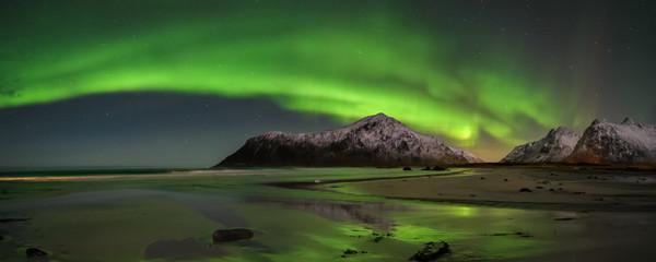 Polarlicht an der Küste