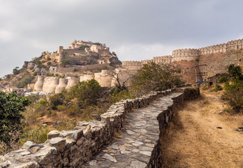Acrylic Prints Fortification Kumbhalgarh Fort in Rajasthan