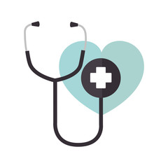 stethoscope medical isolated icon vector illustration design