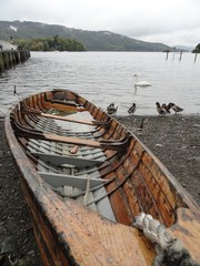 The Lake District - A Boat on the Lakeside