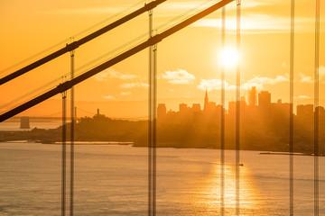 Fotomurales - Golden Gate Bridge in San Francisco