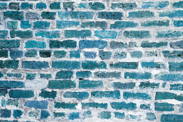 Blue wall brick background texture
