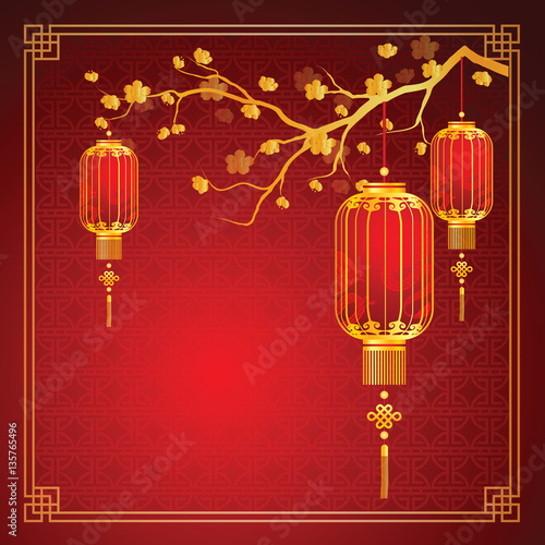 chinese lantern template stock image and royalty free vector files