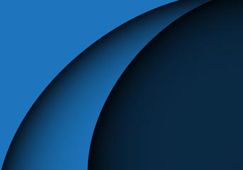 Abstract blue curve shape design modern luxury background vector illustration.