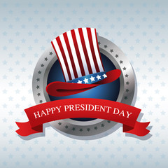 happy president day hat ribbon label vector illustration eps 10