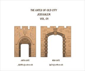 Gates of Jerusalem, Jaffa Gate, New Gate