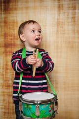 Spaß beim Trommel spielen