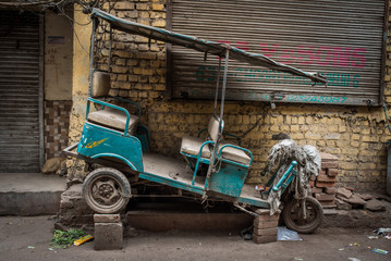 Abandoned old tuk tuk
