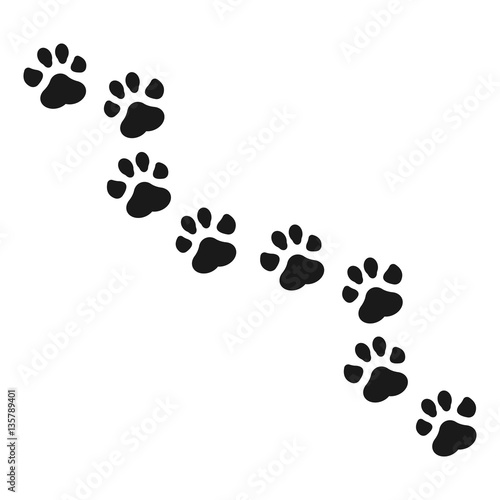 quotpaw print vector illustrationquot stock image and royalty
