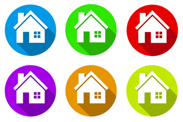 6 House Icon Set