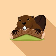 Beaver sign.
