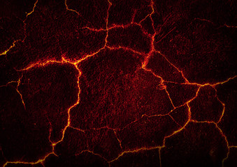 Lava crack ground