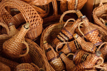 Weaving items from the vine. Basket Weaving