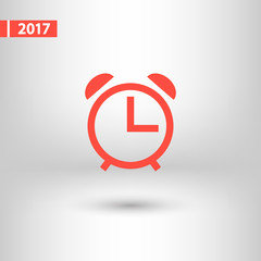 alarm clock  icon, vector illustration. Flat design style
