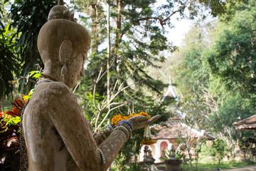 Statue bouddhiste, Wat Sakithaka, Chiang Mai, Thaïlande
