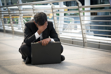 Businessman is disappointed from losing in stock exchange, econo