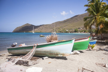 Fishing boats in Martinique.