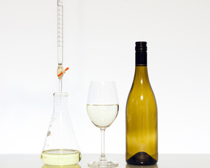 Food science titration of wine