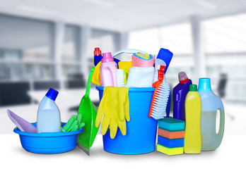 Cleaning equipment and cleaning products household chemicals
