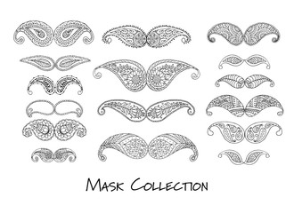 Carnival mask collection, sketch for your design